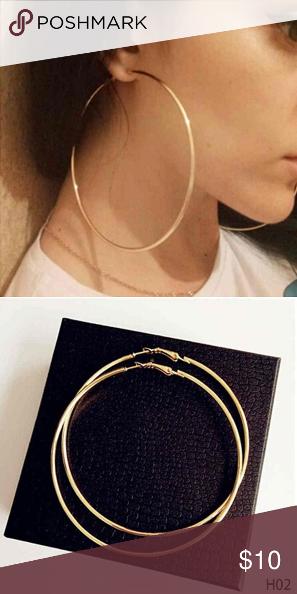 Extra Large Gold Hoop Earrings Jewelry