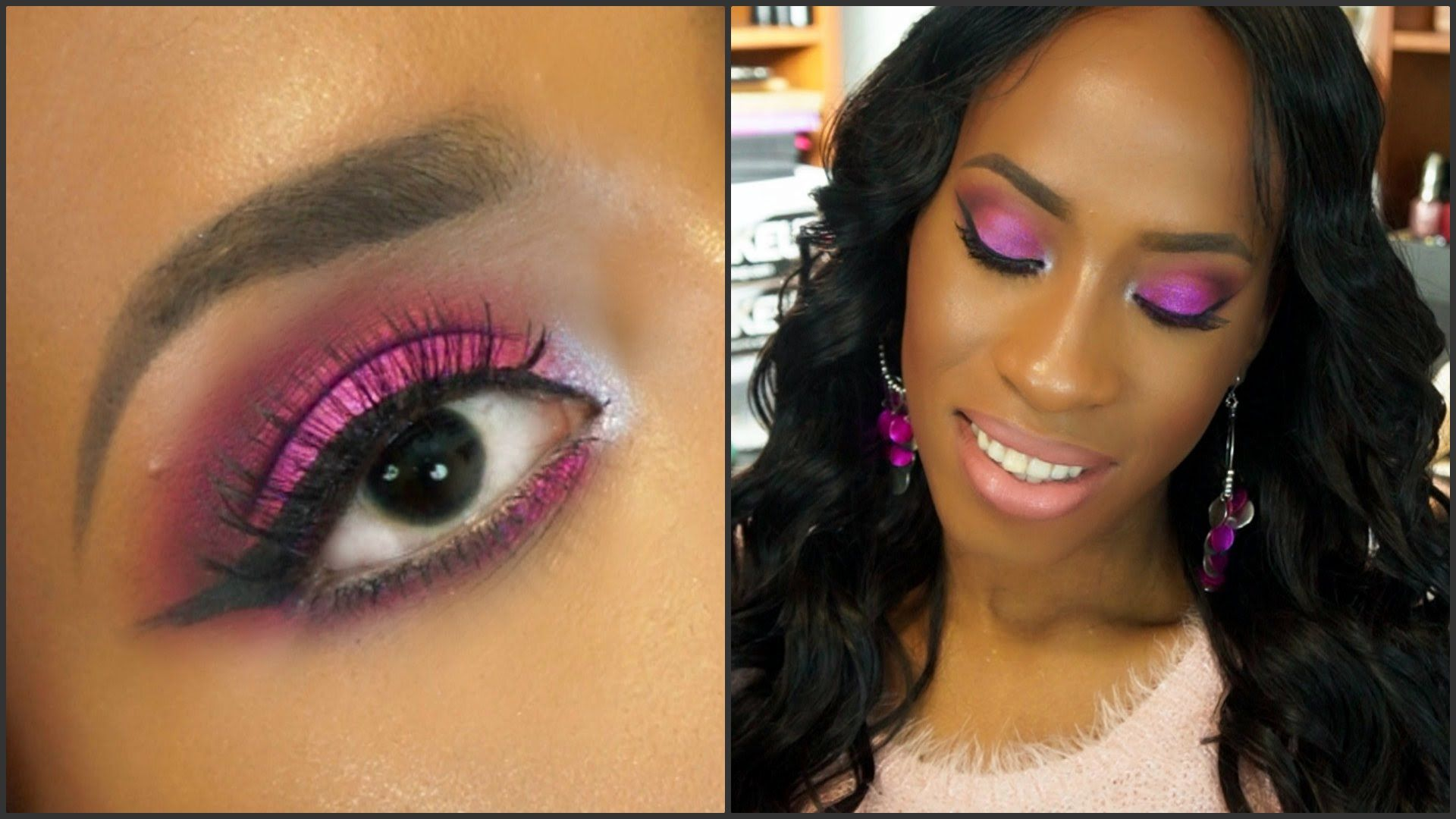 Lovely Pinky-Purple Makeup Tutorial for Valentine's Day images
