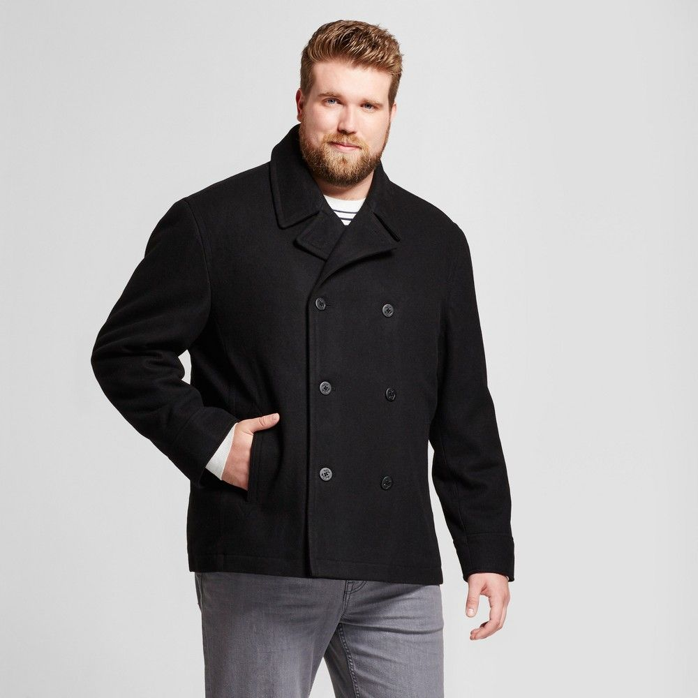 promotion buy cheap latest trends of 2019 Men's Big & Tall Standard Fit Wool Peacoat - Goodfellow & Co ...
