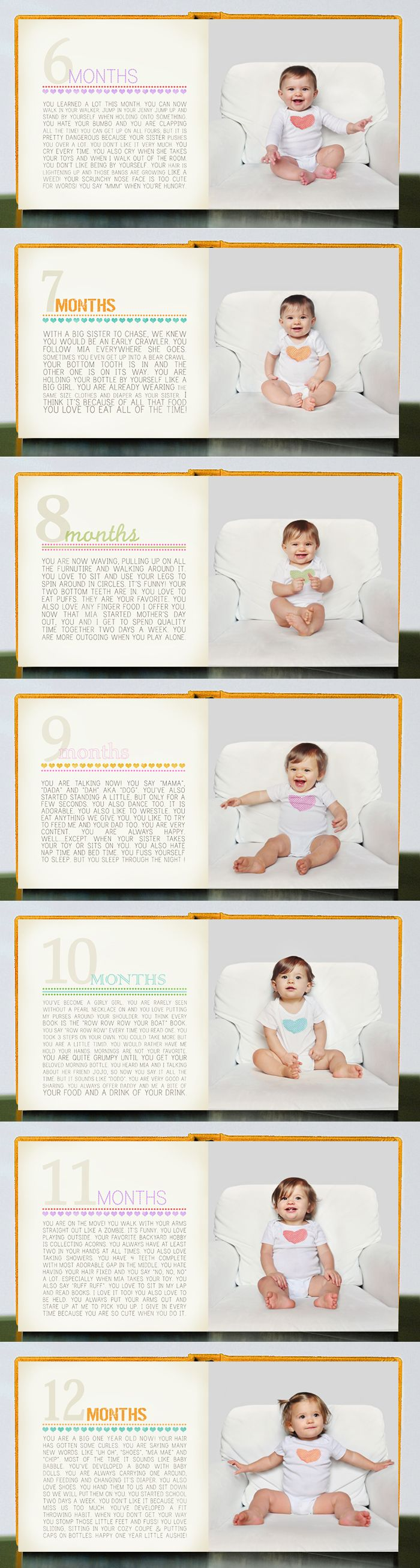 monthly baby photo template