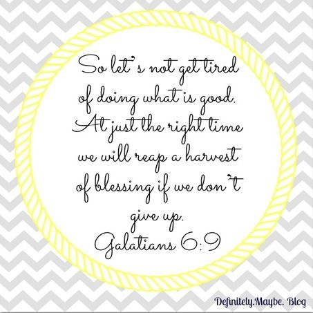 Galatians 69 Lord Give Me Strength Patience To Do The Work You