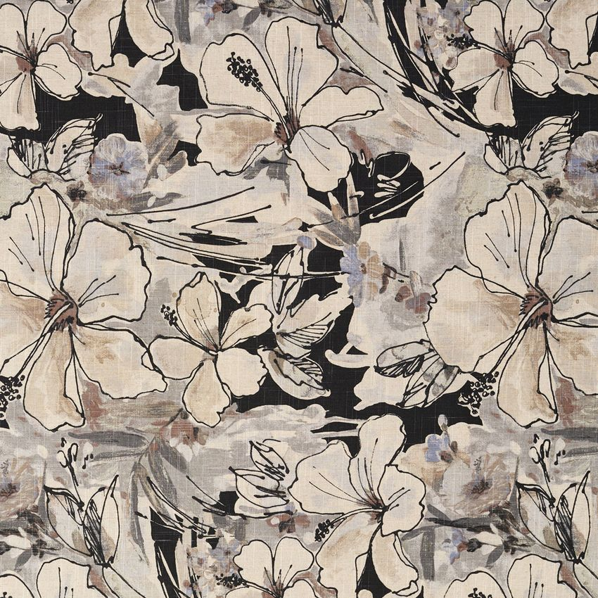 Beige And Black Contemporary Prints Drapery And Upholstery Fabric Upholstery Fabric Contemporary Upholstery Fabric Floral Upholstery