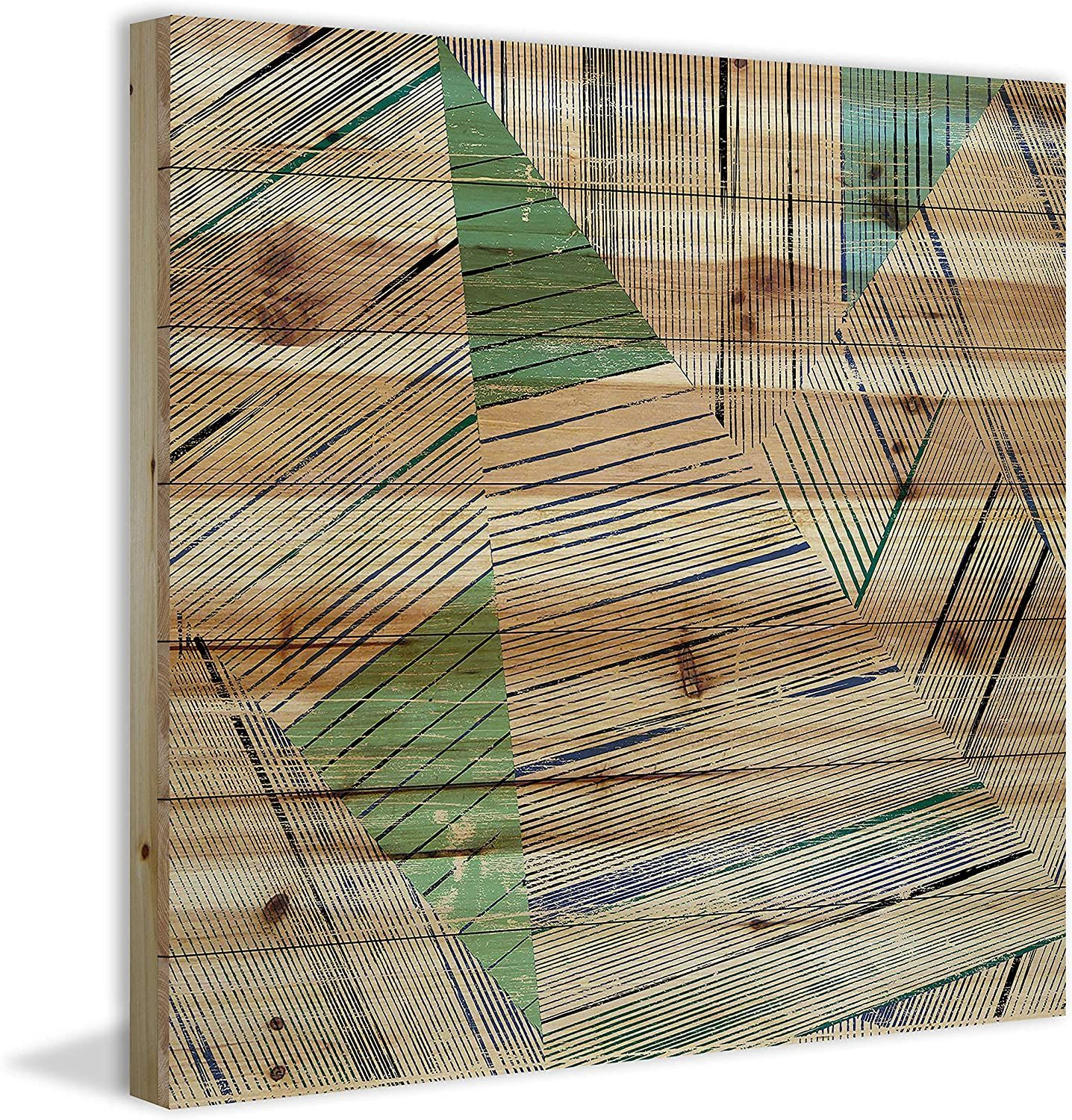 Marmont Hill Sketchy View Painting Print On Natural Pine Wood 32x32 Multicolor Home Kitchen Wall Art P In 2020 Kitchen Wall Art Poster Wall Art Wall Art Painting