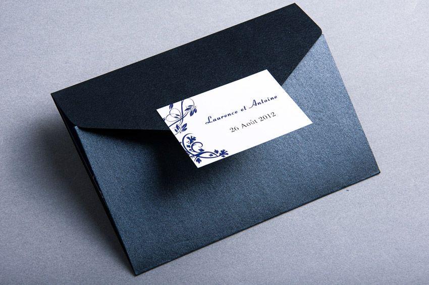 faire part mariage bleu fleur de vigne chic pochette style elegant jm318 faire part mariage. Black Bedroom Furniture Sets. Home Design Ideas