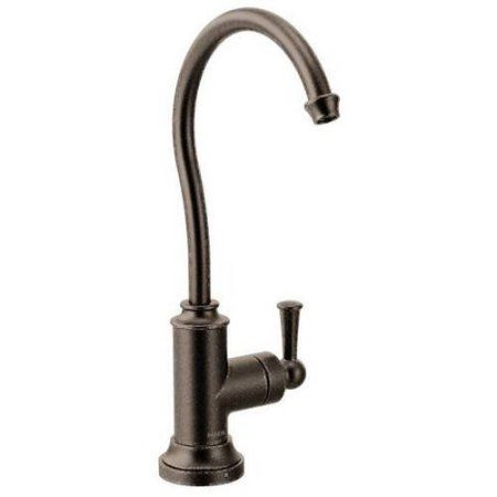 Moen S5510SRS Sip Cold Water Only Kitchen Faucet, Available in Various Colors, Bronze