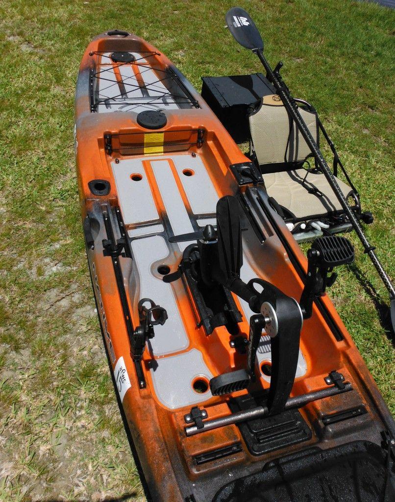 Here Are A Couple Of Photos Of A Stock Seadek Kayak Kit Installed On A Native Watercraft Slayer Propel This Is A Angler Kayak Best Fishing Kayak Kayak Fishing