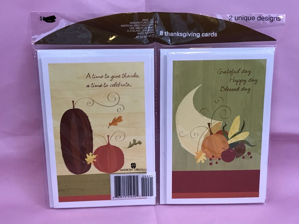 American greetings thanksgiving cards with envelopes new sealed american greetings m4hsunfo