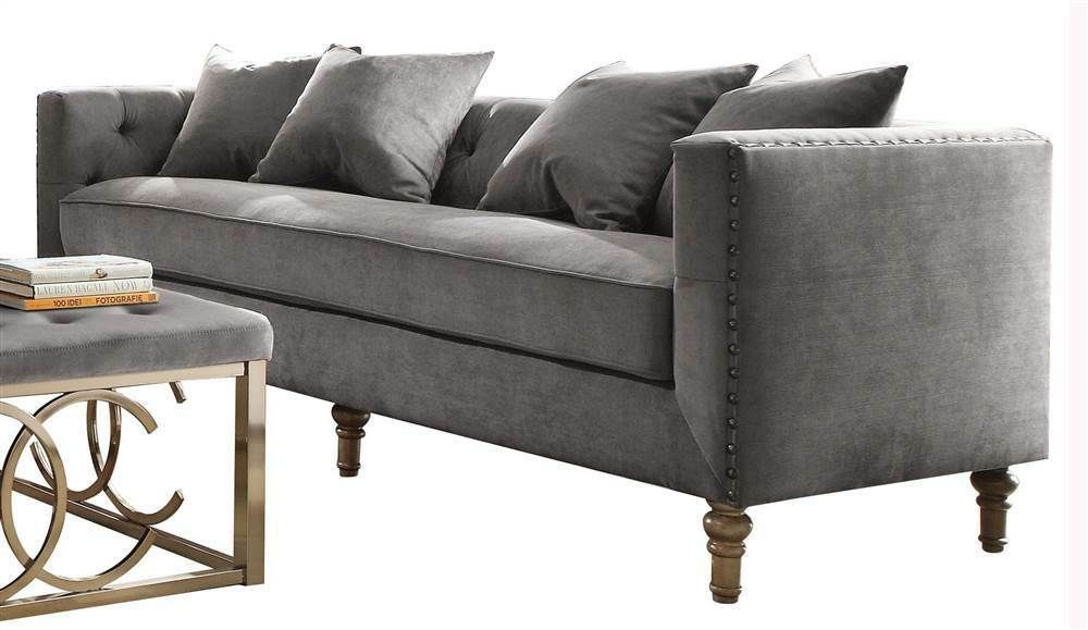 Sofa With Pillows In Gray Velvet Id 3871826 Grey Sofas Ideas Of Grey Sofas Grey Sofas Sofa With With Images Acme Furniture Furniture Living Room Sets Furniture