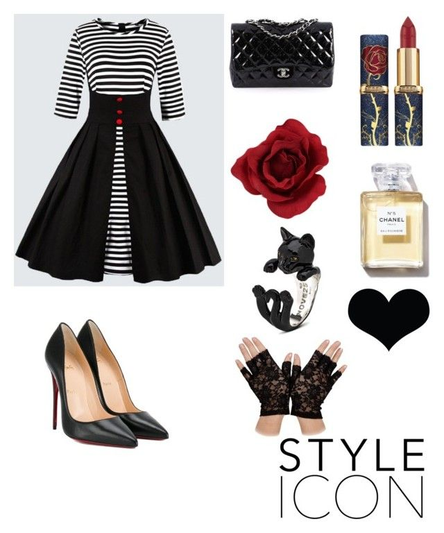 """""""atitude"""" by daniela-roschel-mateus on Polyvore featuring Christian Louboutin, Chanel and Brika"""