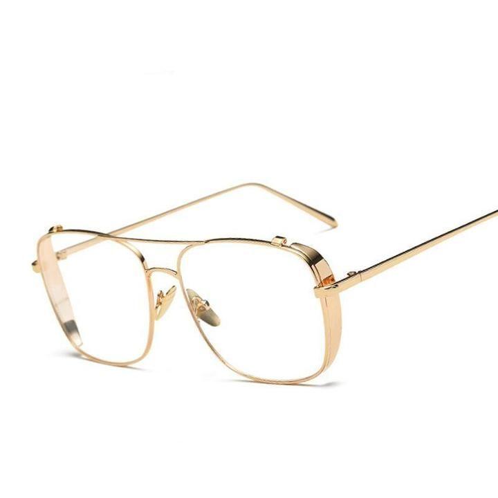 BUKE Luxury eye glasses Frames for Men Top Quality Flat Top Big Man Glasses Optical Frames Brand Fashion glasses Woman Eyewear