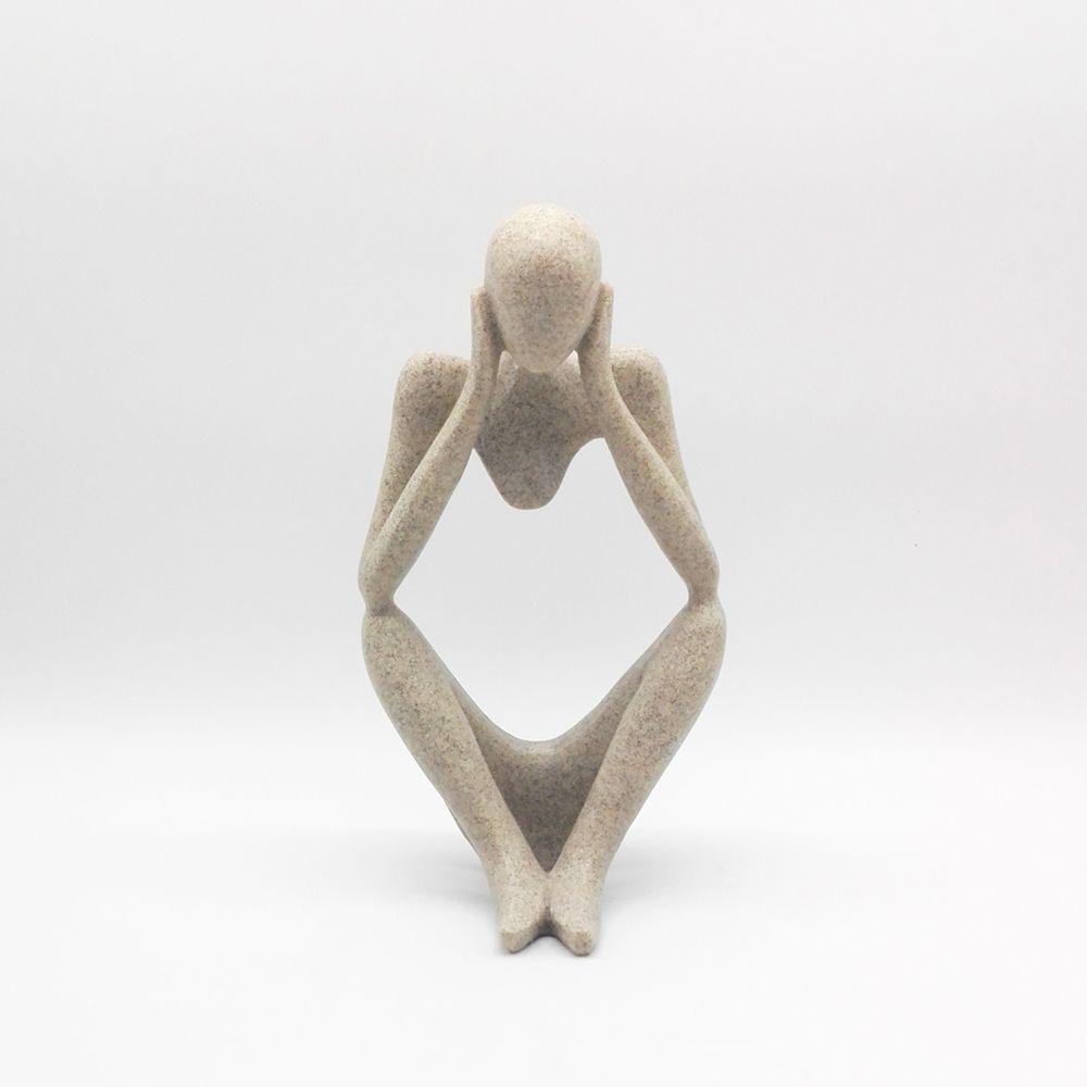 figuras decorativas nova figura abstrata escultura pensador arenito artesanato escultura de arte moderna decorao da casa