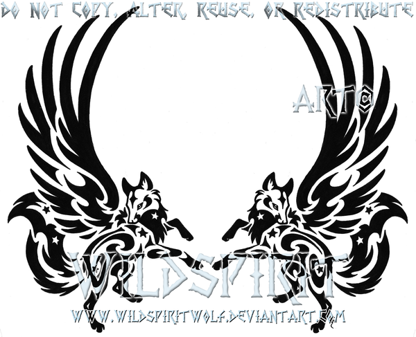 Winged Fox Pair Tattoo by *WildSpiritWolf on deviantART