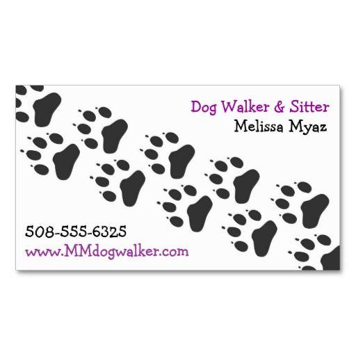 Dog walker business card business cards business and dog dog walker business card colourmoves