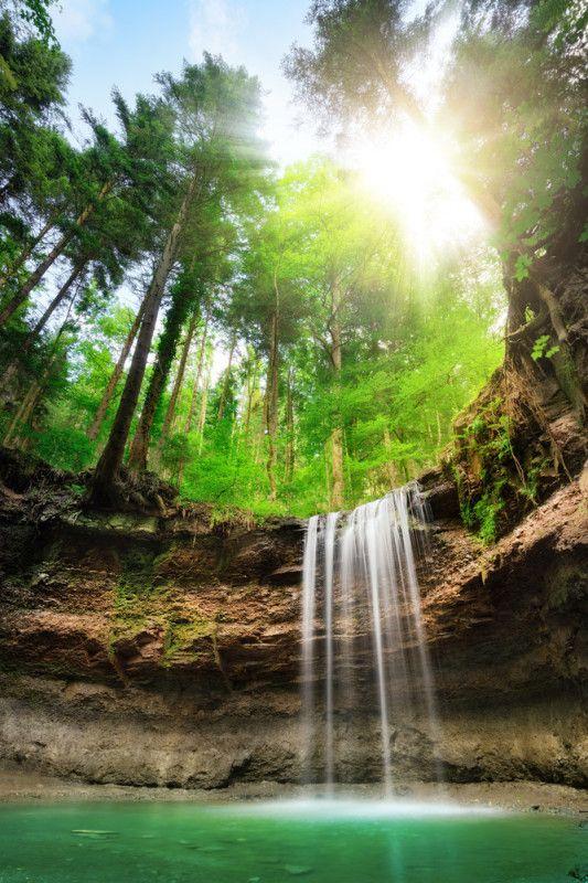 Fototapete Faszinierender Wasserfall Tapeten U0026 Farben Fototapeten