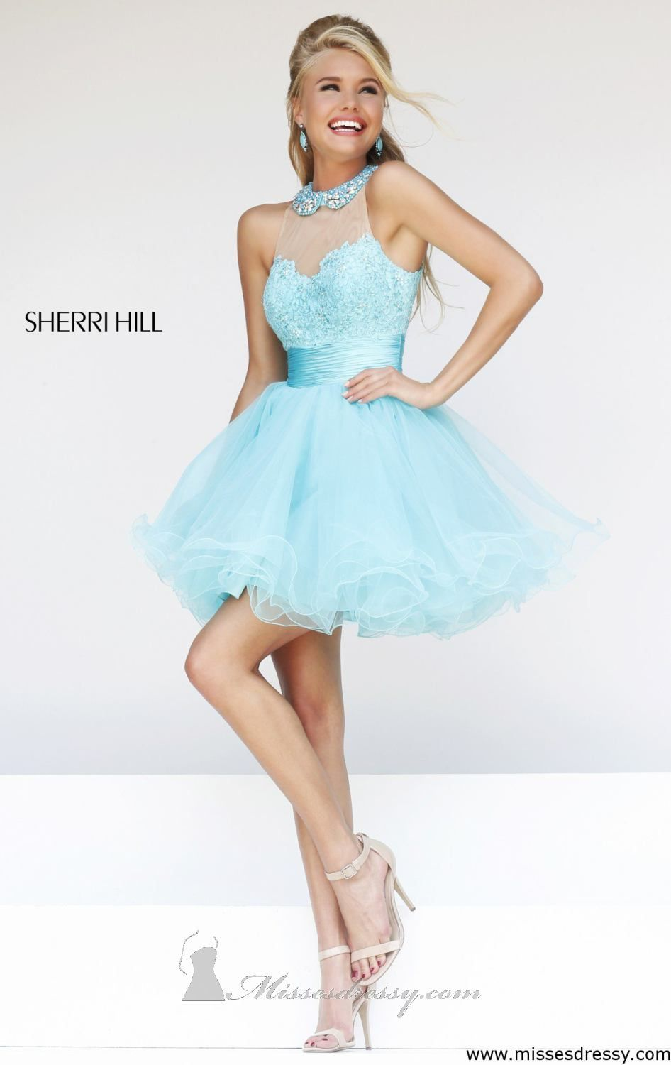 Sherri Hill Short Homecoming Dress 21345 at Peaches Boutique ...