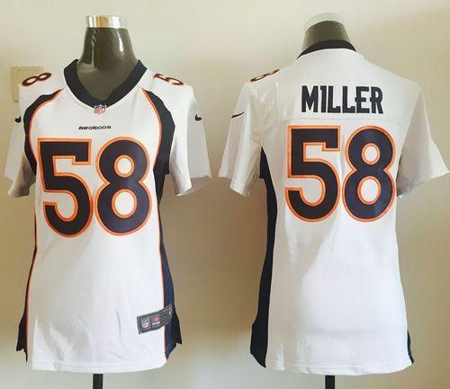 women 2013 nike denver broncos 58 von miller white game jersey 22.5