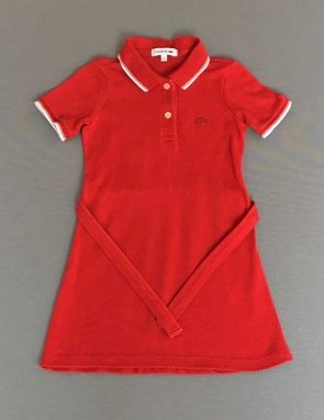 8c96a0631 Lacoste. Vestido tipo polo rojo con cinturón | vestidos sper divinos ...