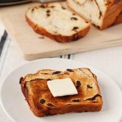 Raisin toast and butter.