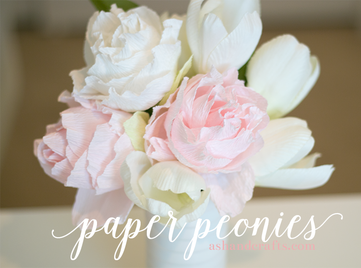 How to make paper peonies from crepe paper great for mothers day flower mightylinksfo