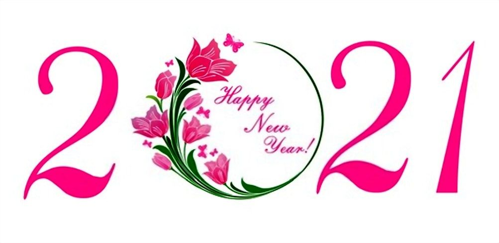 Happy New Year 2021 Wishes With 2021 Wallpaper In 2020 Happy New Year Typography Happy New Year Images Happy New Year Greetings