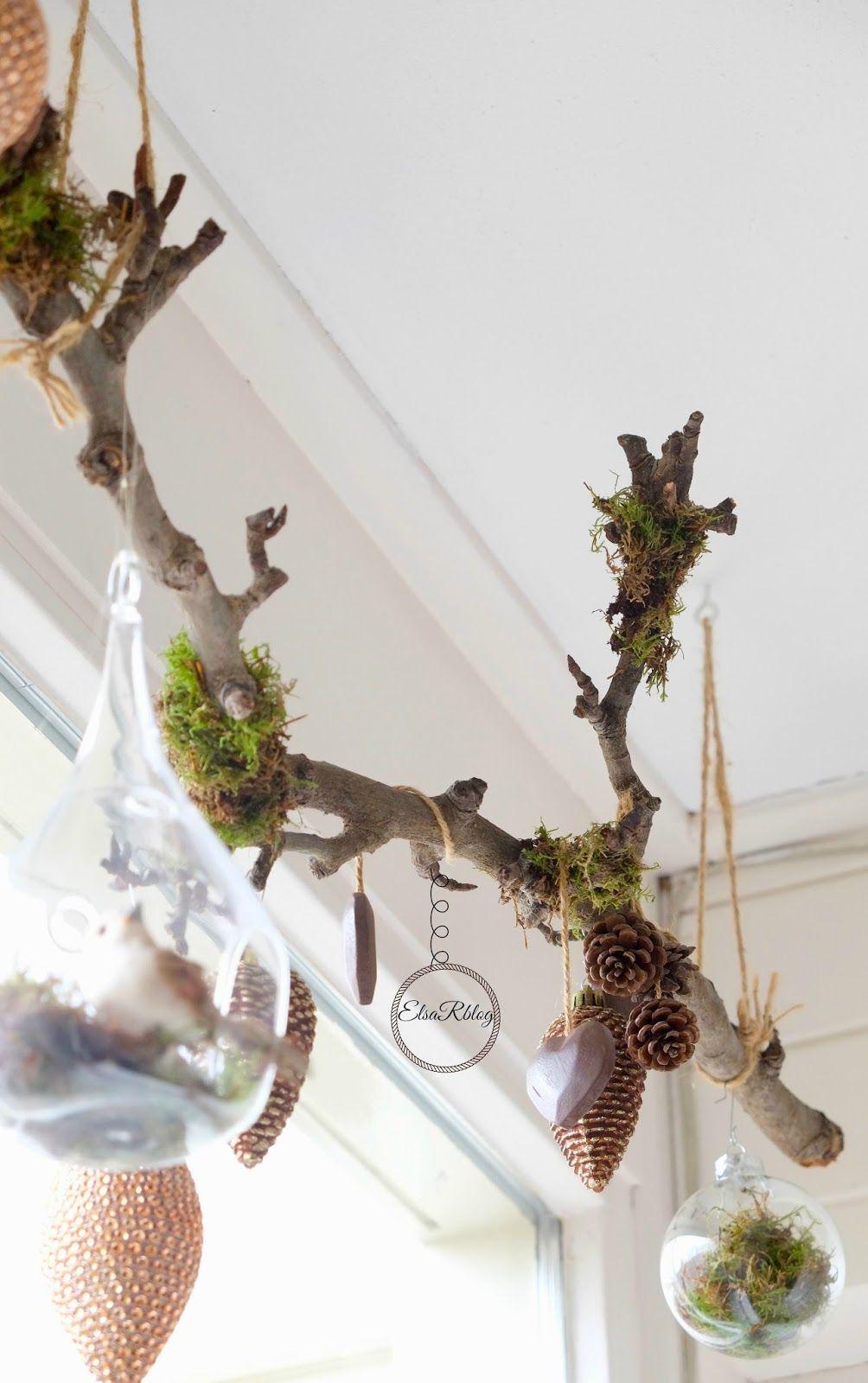 Decoratie met takjes en mos (Diy decoratie) | Frida | Pinterest ...