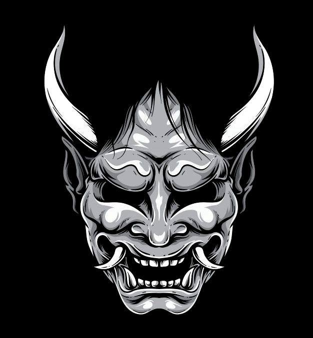 Hannya Japanese Mask Premium Vector Japanese Mask Japanese Demon Mask Samurai Tattoo Design