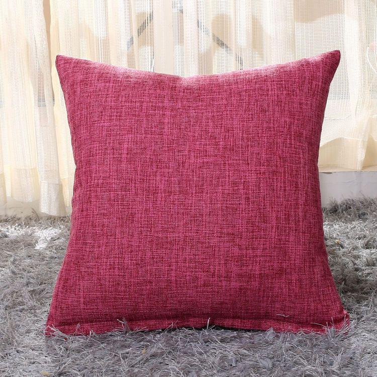 Vintage Cotton Linen Pillow Case Sofa Car Waist Throw Cushion Cover Home Decor