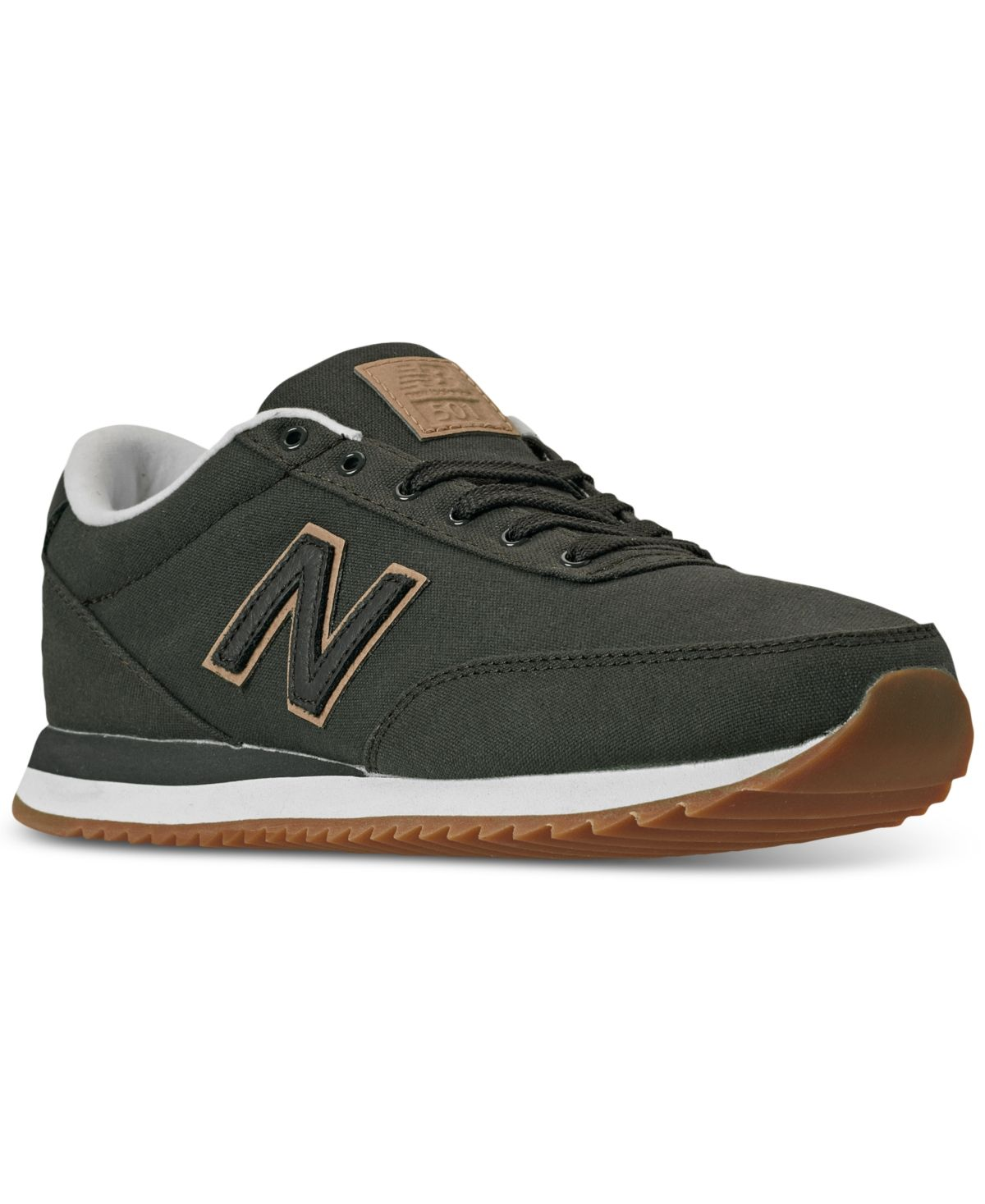 New balance mens 501 canvas gum casual sneakers from