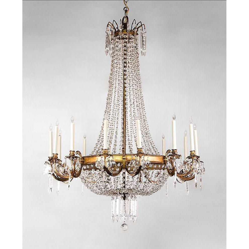 Entryway chandelier french regency style 14 light ormolu and entryway chandelier french regency style 14 light ormolu and crystal chandelier audiocablefo