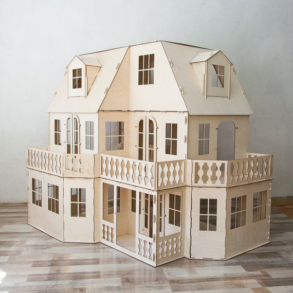 Two Storey Victorian Dollhouse Dollhouse Wood Dollhouse Dollhouse