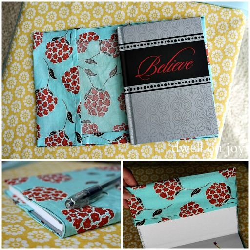 Fabric Book Cover- DIY Cover {Guest Post}