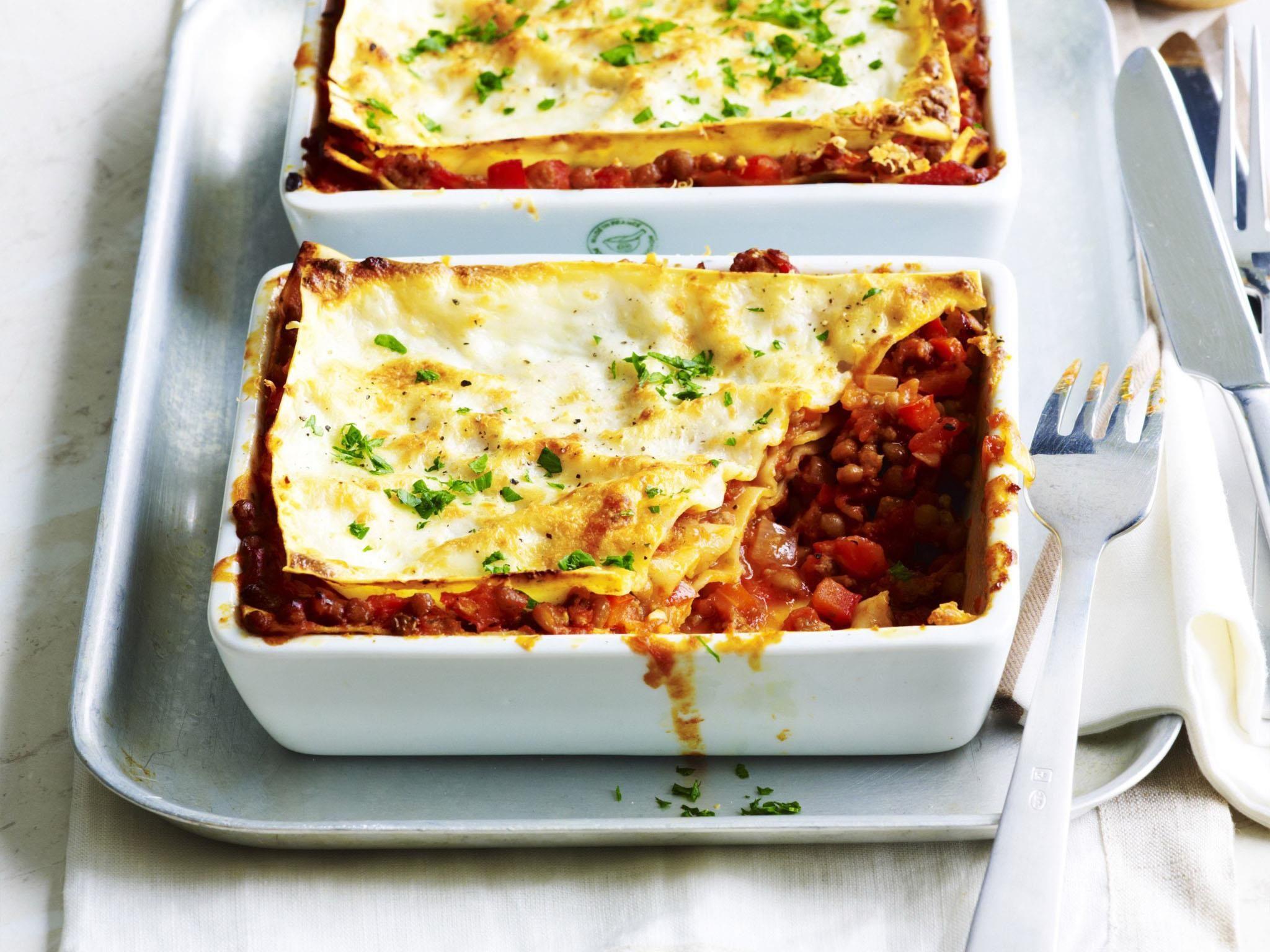 Beef And Lentil Lasagne Recipe Food Recipes Lentil Recipes