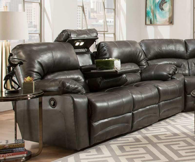 Franklin Furniture Legacy Reclining Sofa W Drop Down Table