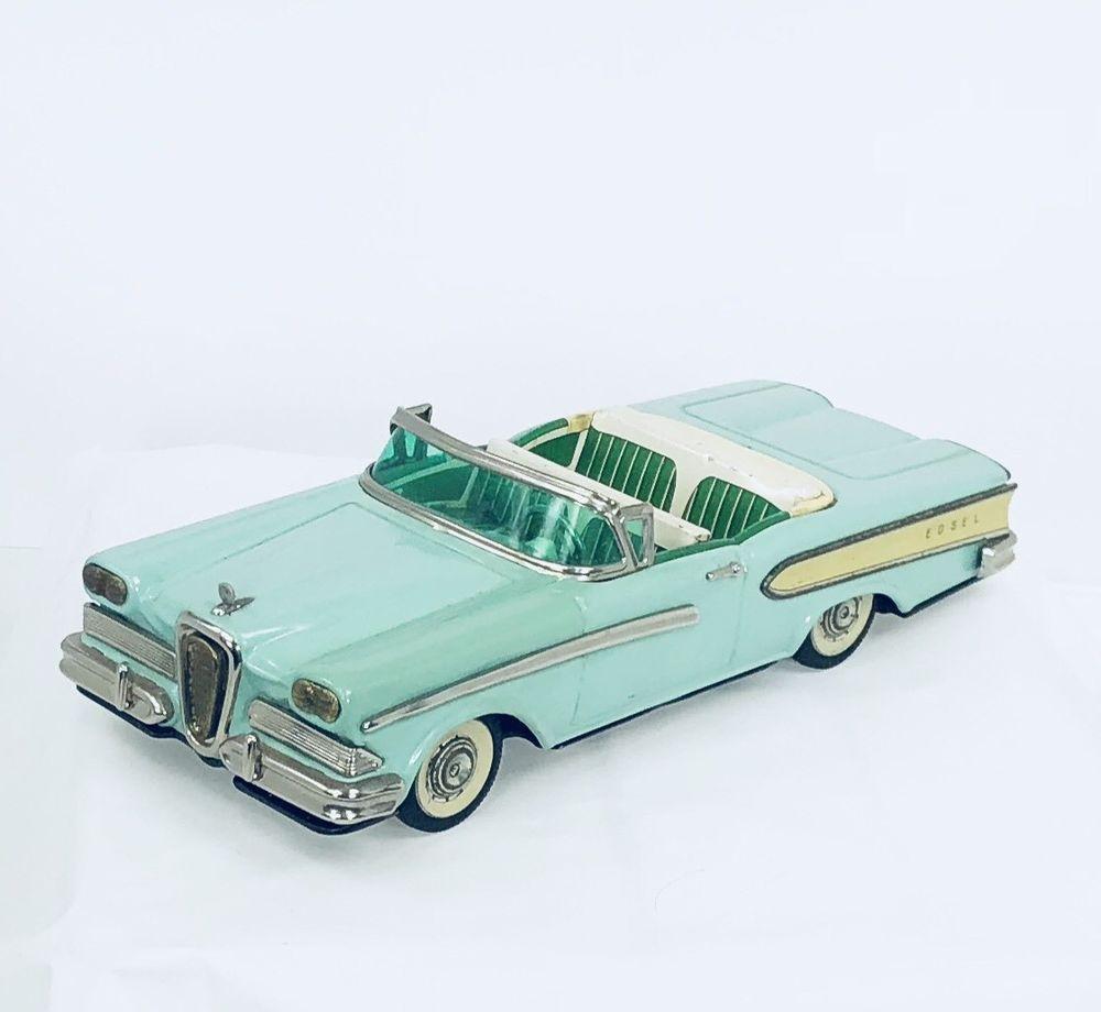 Toys car image  Details about Vintage  Tin Toy Car Ford Edsel Friction