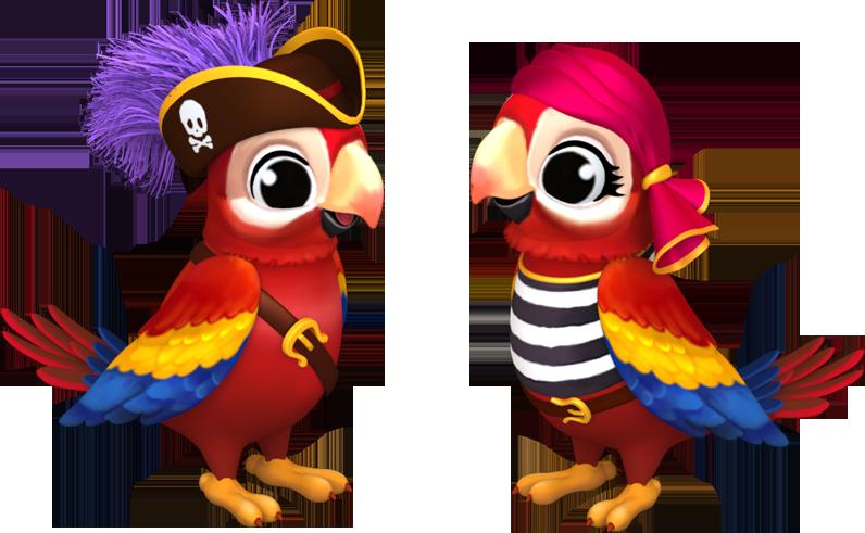 3d Pirate Parrot Family Farm At Facebook Farm Art Pirate Parrot Family Farm