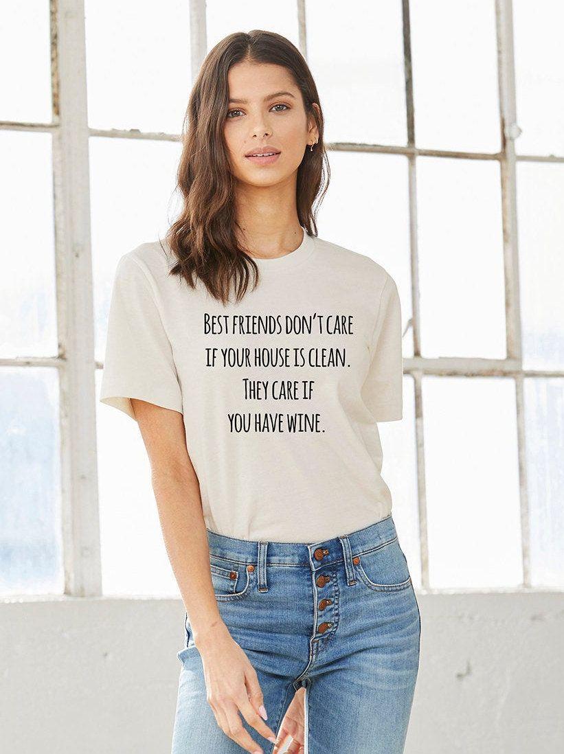 Comical Shirt Ladies Never Clean Me Tri-Blend Tank Top
