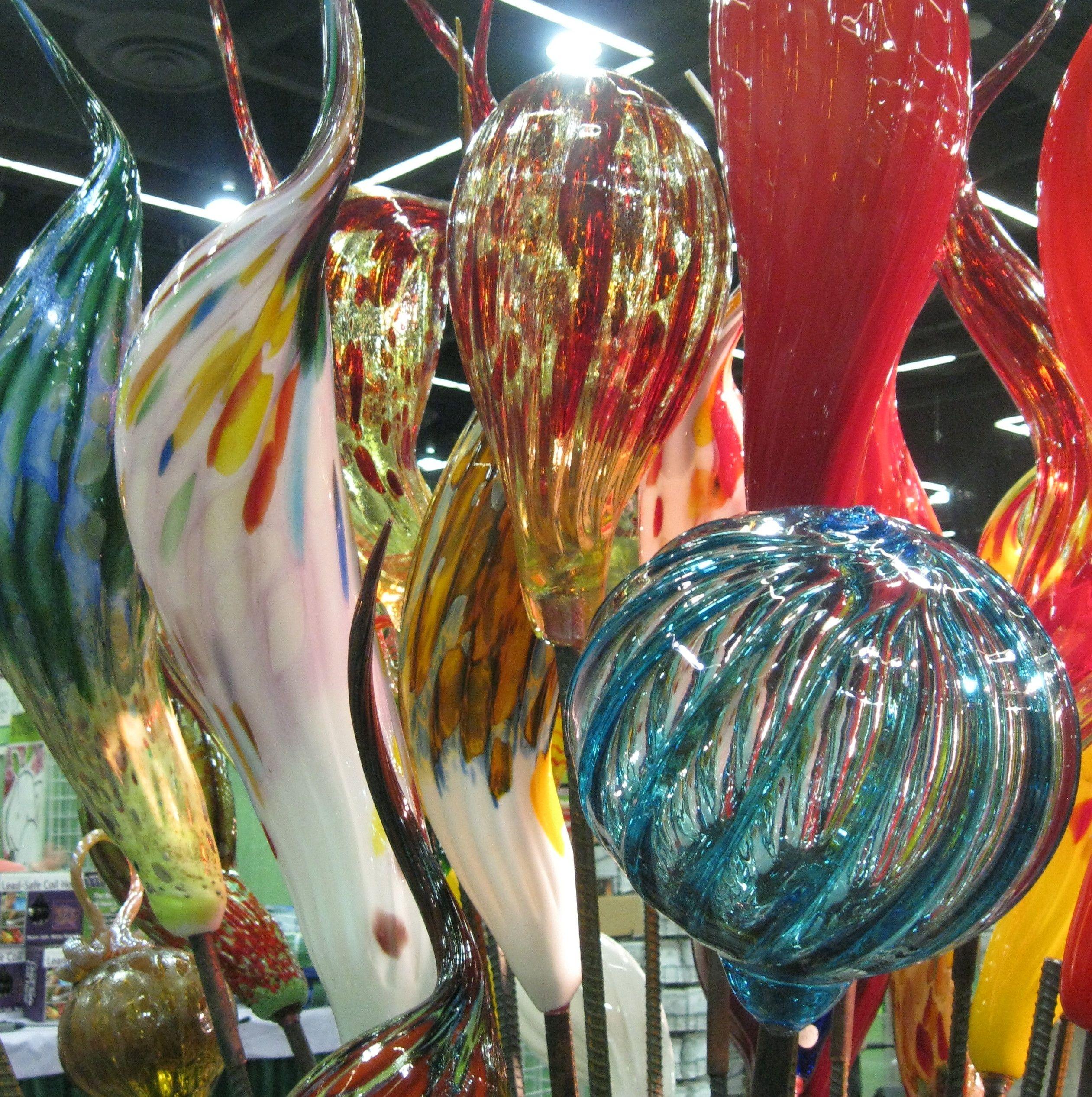 Beautiful Blown Glass Garden Art At The Portland Yard, Garden U0026 Patio Show.