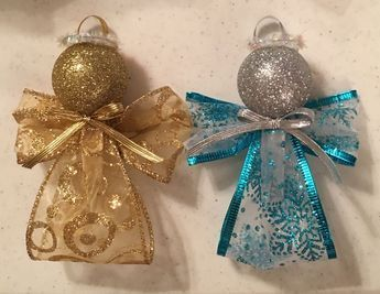 How To Make A Beautiful, Simple Wired Ribbon Angel Ornament For Your Christmas Tree - YouTube