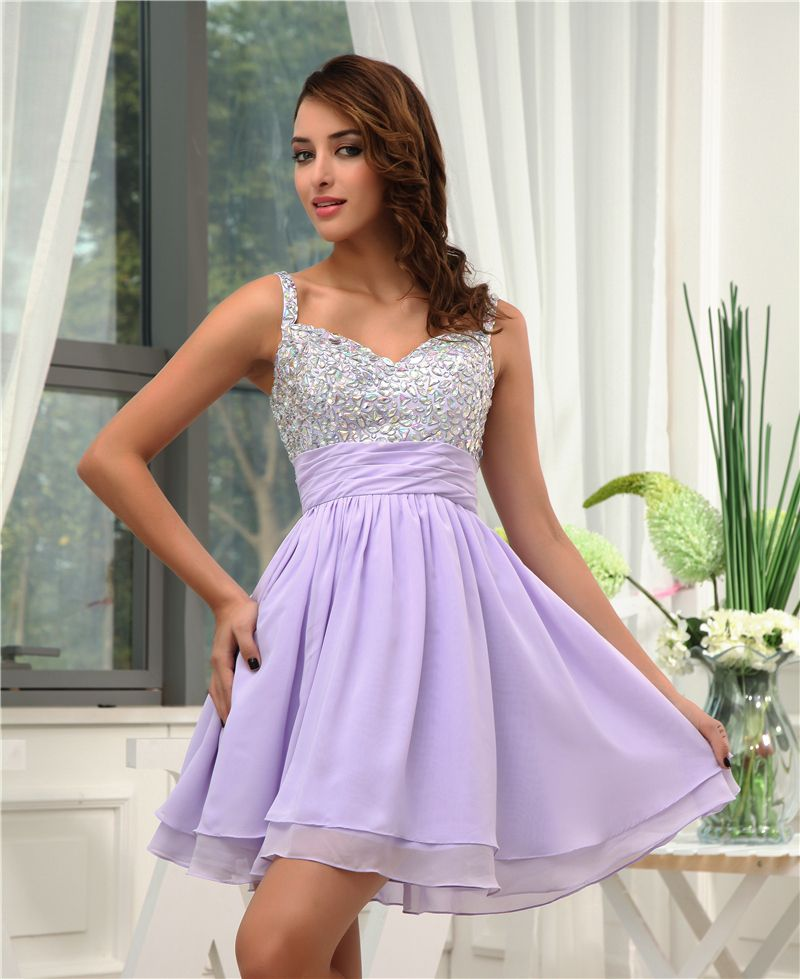 Maphia Cocktail Dresses Party Lavender Robe De New Arrival Fashion ...