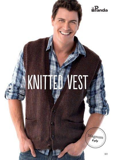 1ec5a5fe7b5a3 Panda Knitted Vest - Magnum 8 ply