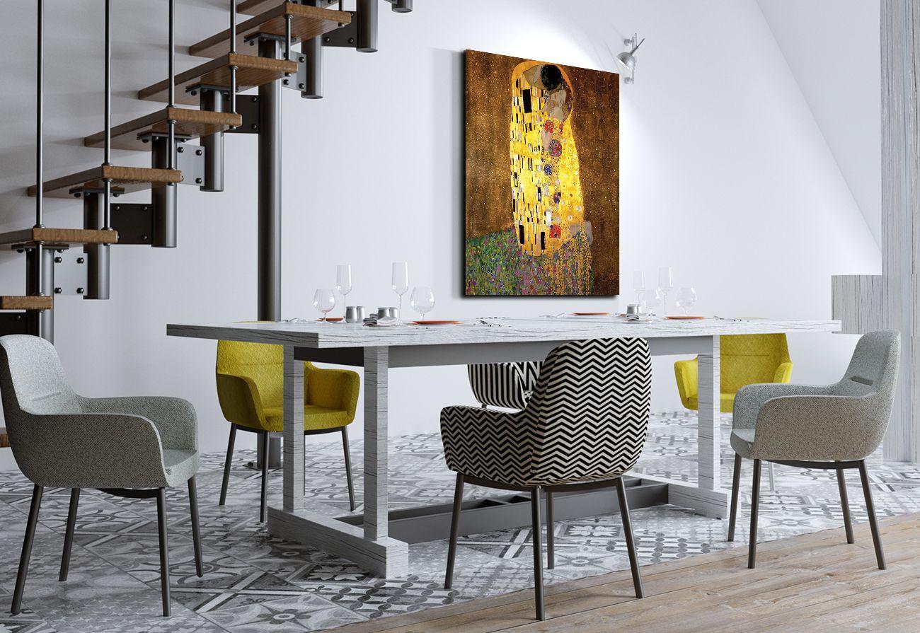 Quadro Su Tela Bacio Di Klimt 100x50 Cm Quadri Su Tela