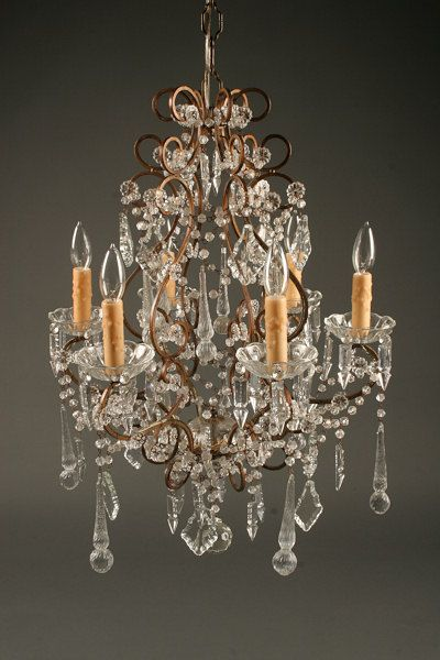Italian Antique Chandelier With Hand Blown Venetian Glass Antique Chandelier Hand Blown Venetian Glass