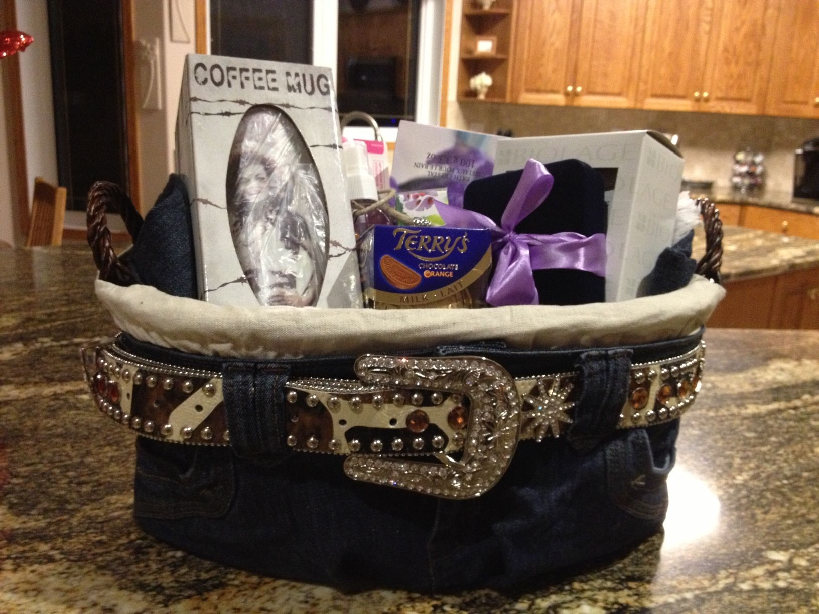 Gift Basket Wrapping Ideas Cowgirl Gift Basket Basket Fun Pinterest Gift Wrapping