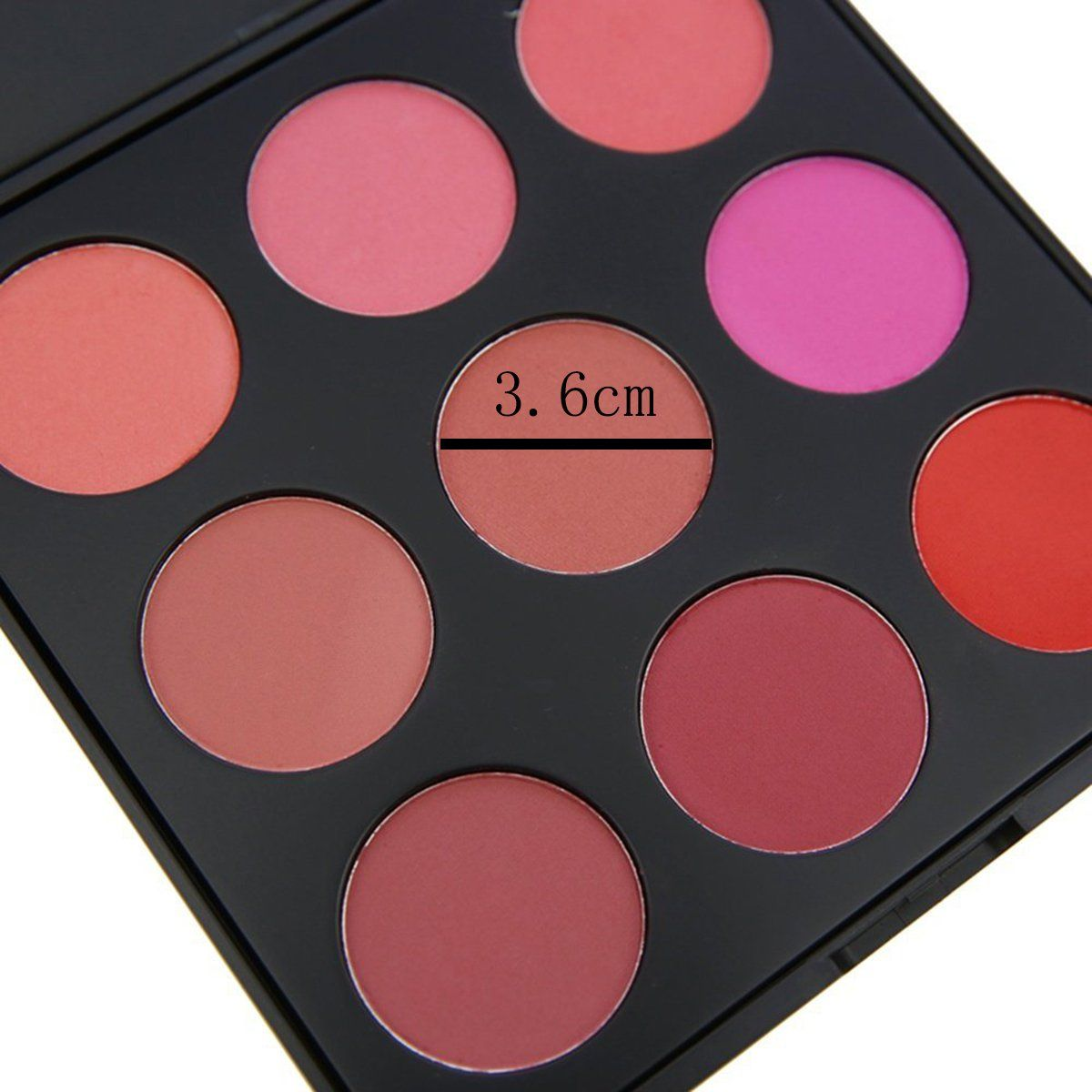 Blusher Palette Vodisa 9 Color Natural Make Up Blushing