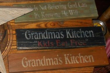 Booth #555: Stenciled Wood Signs
