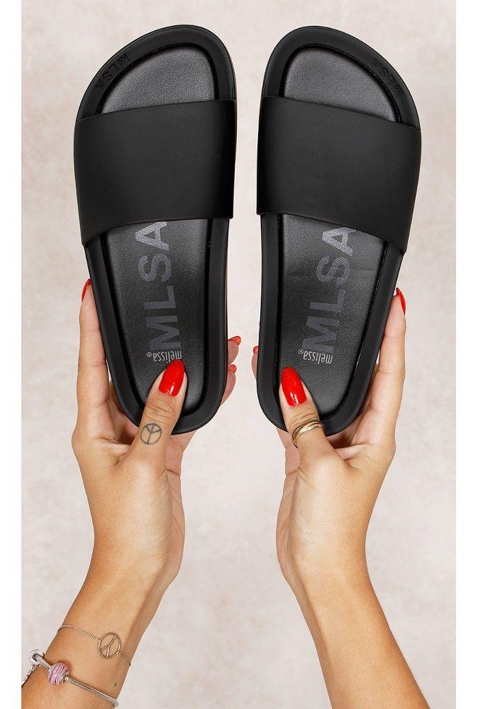 Melissa Beach Slide F Preto Fashion CLoset - fashioncloset  960e6592714d