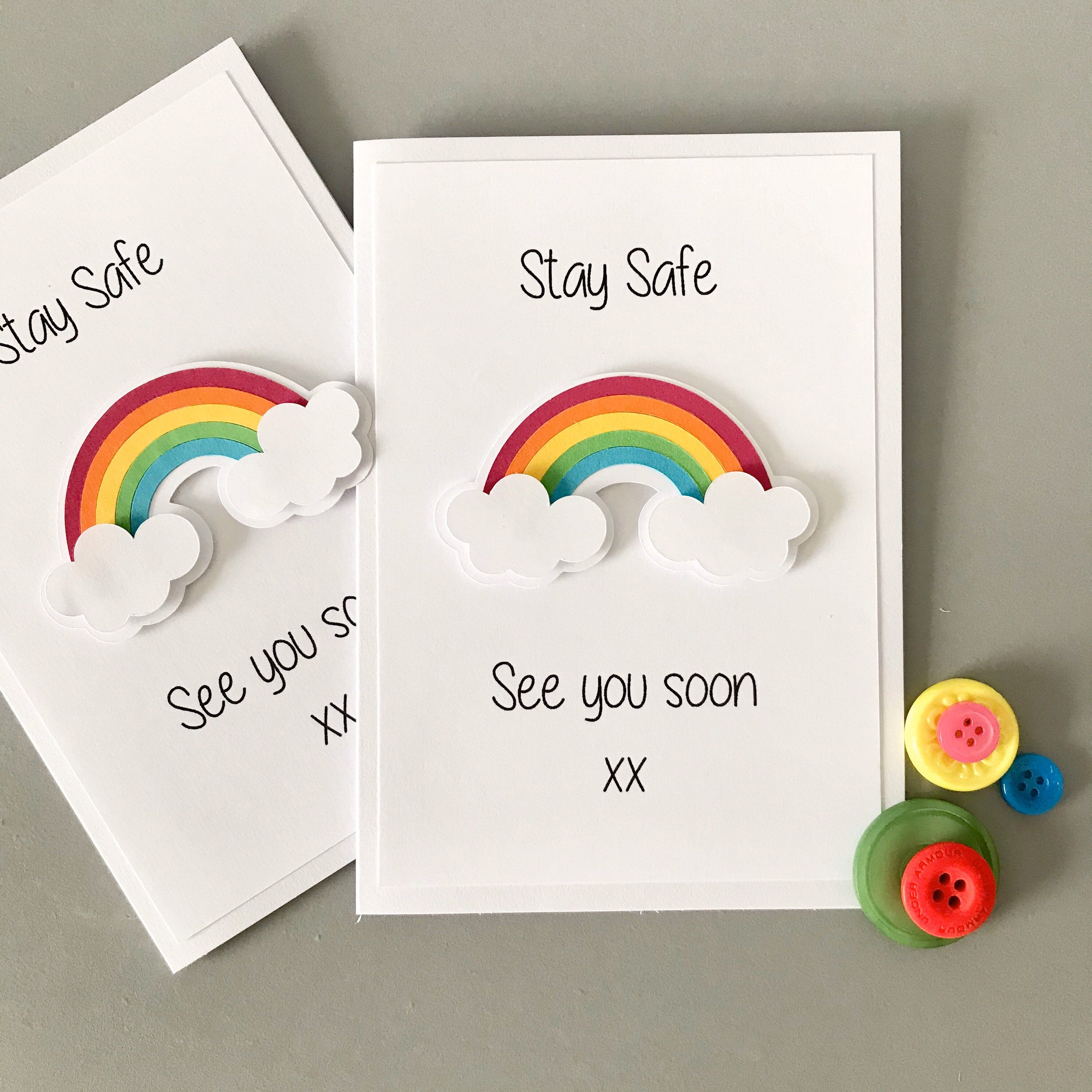 envelope Birthday party invitations bright rainbow Music notes Personalised A6