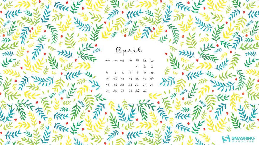 Desktop Calendar April 2016 ready for summer wallpaper non-calendar version avail | minimal