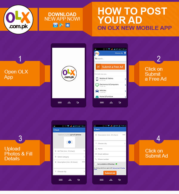 Pin by OLX Pakistan on How to post free ad | Post free ads