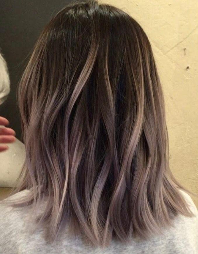 Ash Blonde Lob Balayage Hair Hair Color Balayage Brown Hair